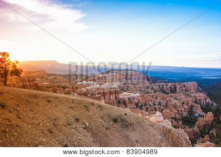 Sunrise At Bryce Canyon As Viewed From Sunrise Point At Bryce Canyon National Park,in  Utah, United