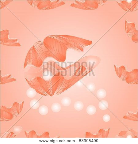 Seamless  Texture   Sea Shells And Pearl Necklace Vector