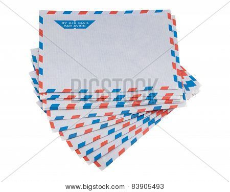 Envelope For Airmail Including Clipping Path