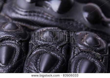Motorcycle gloves macro