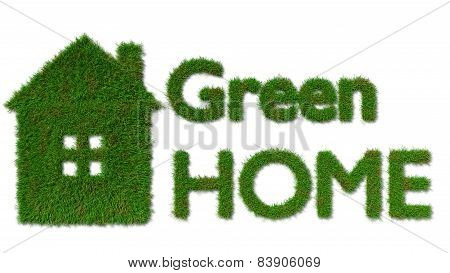 green home icon - ecology house concept