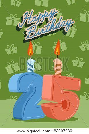 25 years celebration, 25nd happy birthday