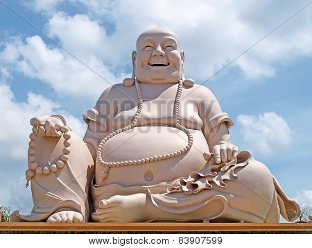 Chau Doc, Viet Nam- Sep 17: Amazing Big Buddha Statue On Cam Mountain, A Famous Pagoda At Mekong Del