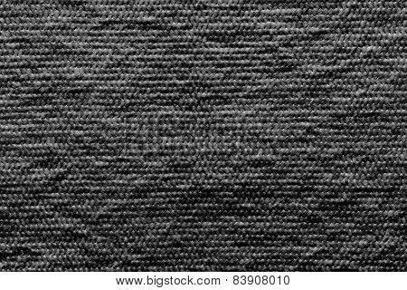 Texture Wadded Fabric Of Black Color