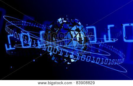 Abstract flow of digital information in cyberspace