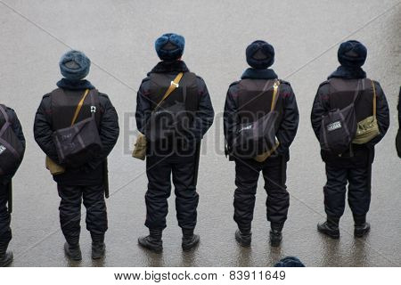 The Police At An Opposition March Memory Nemtsov