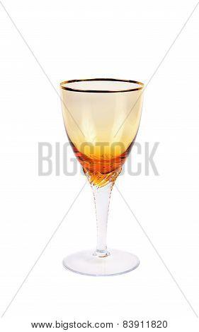 One Empty Luxoru Wine Glass