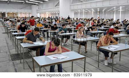 Group students exam
