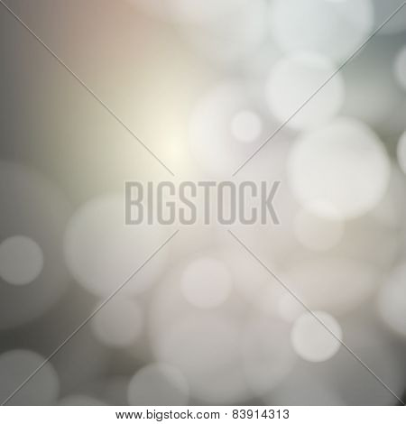 Blurry background with bokeh effect. Abstract vector illustration