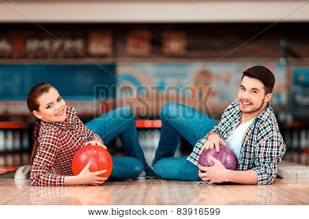 Leisure time in bowling club