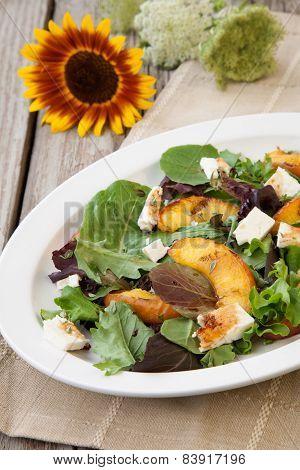 Grilled Peach And Mozzarella Salad
