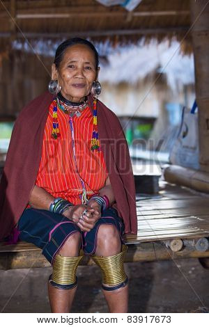Karen Tribal Woman From Padaung Long Neck Hill Tribe Village