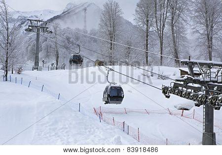 Ski lift in Rosa Khutor Alpine Resort