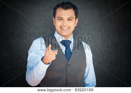Happy Man Pointing At You
