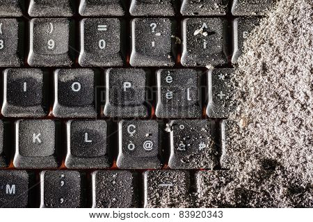 Buried Black Keyboard