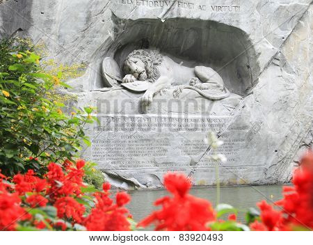 dying lion monument of Luzern