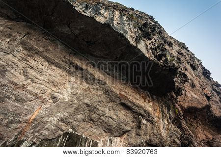 Steep Barren Cliff