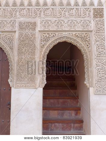 Intricate Carved Stone Doorway