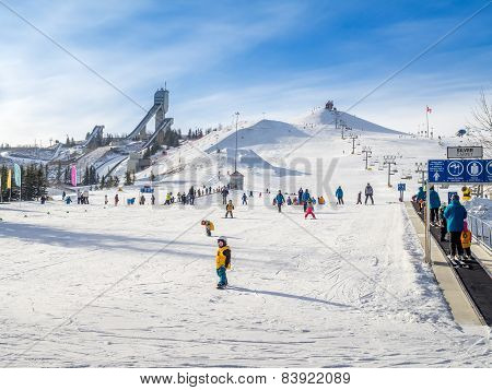 Skiing at Canada Olympic Park