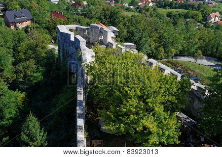 Bastion of Celje medieval castle in Slovenia