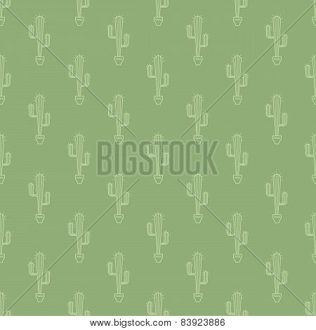 cactus in pot pattern