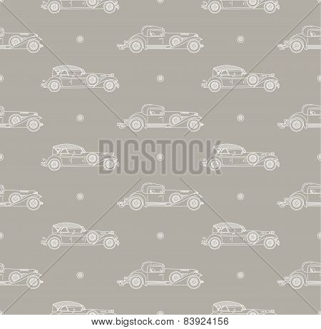retro car pattern