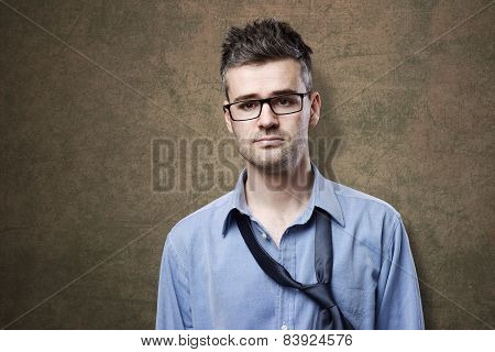 Confused Untidy Businessman