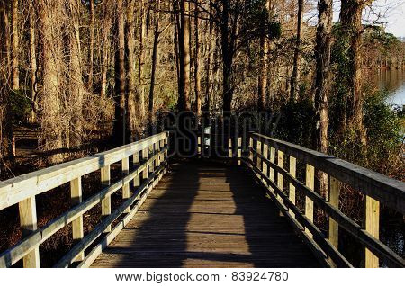 Bridge at Greenfield Lake