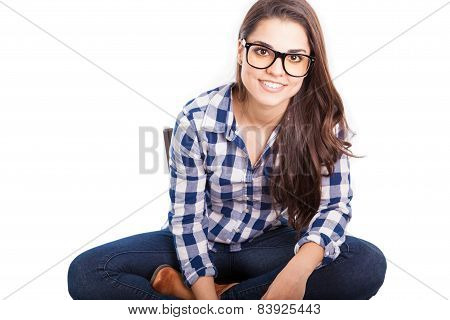 Portrait Of A Hipster Girl