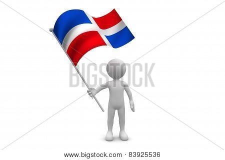 Dominica Republic Flag