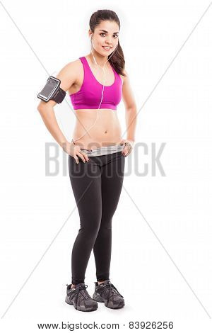 Cute Athletic Girl With Armband