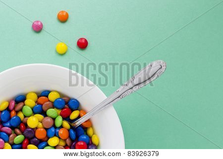 Colored Chocolate Buttons