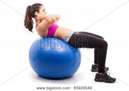 Doing Crunches On Exercise Ball