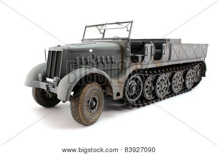 3/4 View Of Half-track