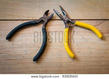 Old Pliers And Wirecutters