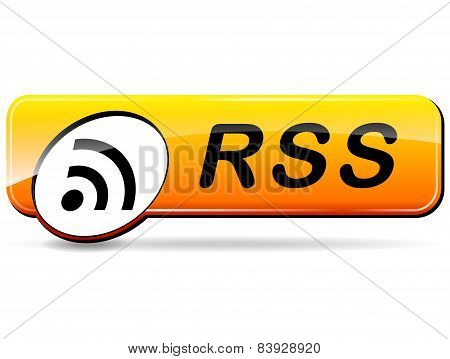 Rss Orange Web Design Button