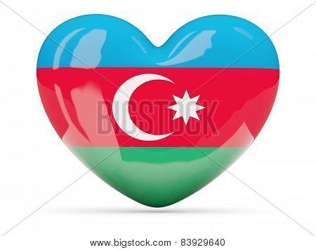 Heart Shaped Icon With Flag Of Azerbaijan