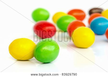 Colorful Chocolate Coated Candy.
