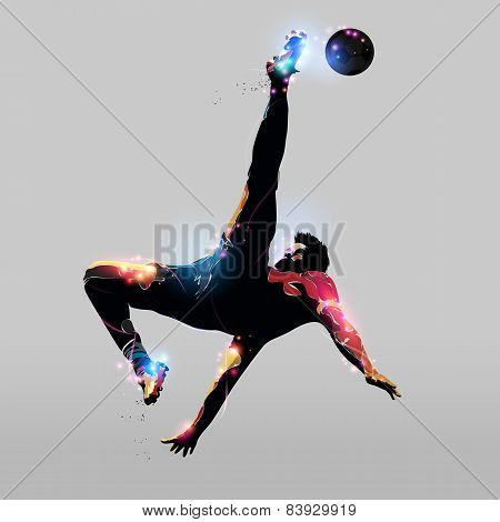 Abstract Over Head Kick
