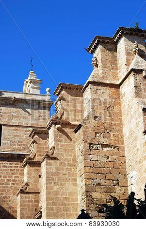 Almeria castle walls.