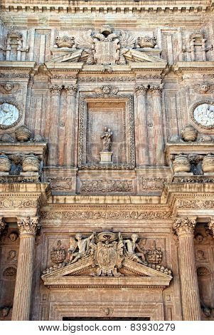 Almeria castle sculptures.