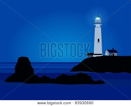 Nature Landscape with lighthouse