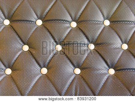 Black Sofa Upholstery Leather Pattern Background