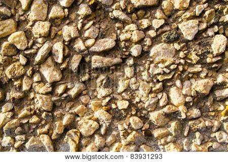 Gravel Stones On A Wall