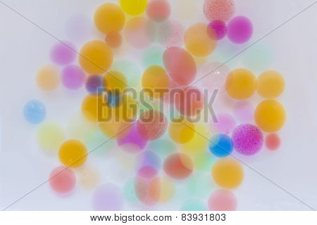 Expanding Water Colored Balls