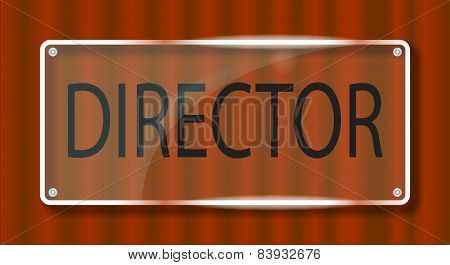 Director Door Plaque