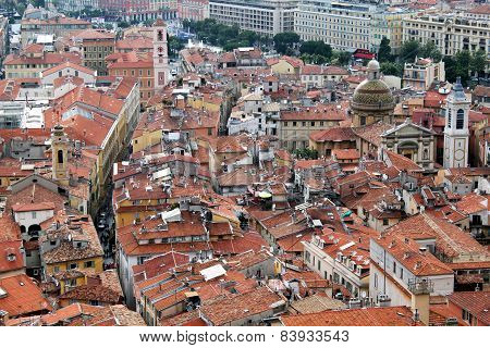 Rooftops Of Old Nice, France