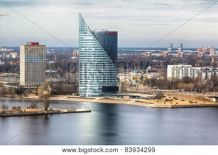 View Of Skyscraper In Riga