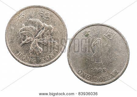 One Hong Kong Dollar 1993