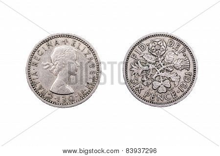 Sixpence old from the U.K